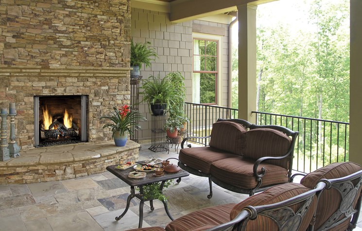 Carolina Outdoor Gas Fireplace