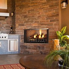 Villa Outdoor Gas Fireplace