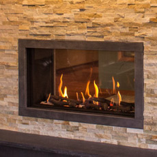Ortal Tunnel Series Clear 110H Direct Vent Gas Fireplace