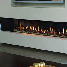 Ortal Front Facing Clear 150 Direct Vent Fireplace