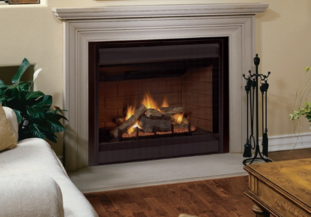 Fmi tudor gas fireplace t32 t36 by fmi for Tudor fireplaces