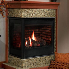 Heatilator Corner Direct Vent Gas Fireplace